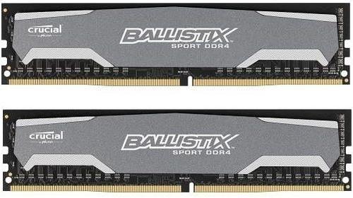Crucial DDR4 Ballistix Sport 8GB/2400(2*4GB) CL16-16-16-16 SR x8