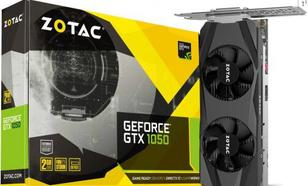 Zotac GeForce GTX 1050 Low Profile 2GB GDDR5 (128 bit), HDMI, DP, DVI-D, BOX (ZT-P10500E-10L)