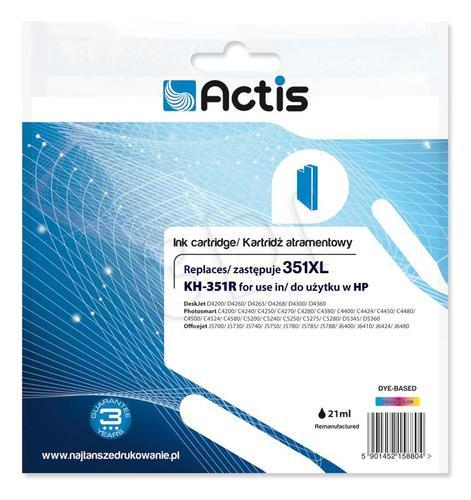Actis KH-351R tusz trójkolorowy do drukarki HP (zamiennik HP 351XL CB338EE) Standard