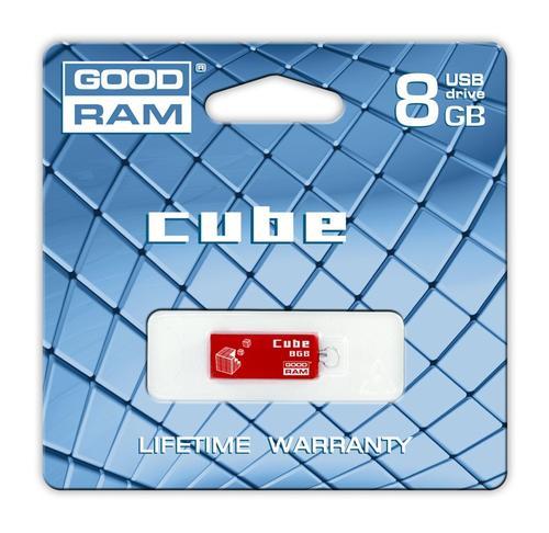 GoodRam Cube 8GB USB 2.0 Czerwony