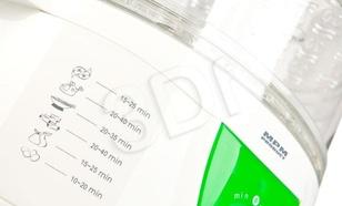 Parowar MPM DZG-40A (650W Biało-zielony 4l)