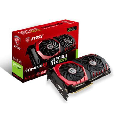 MSI NVIDIA GeForce GTX 1070 8192MB GDDR5 256b PCI-E x16 v. 3.0 (1771MHz/8108MHz)