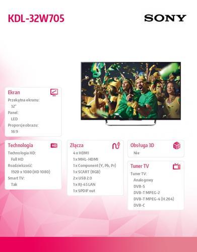 Sony 32'' LED KDL-32W705