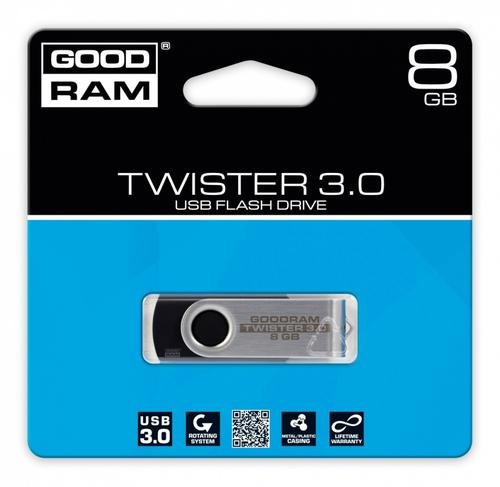 GoodRam TWISTER BLACK 8GB USB3.0