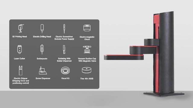 Z-Arm może drukować 3D, ale też i skręcać elementy