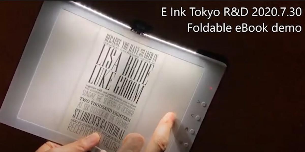 Składany czytnik e-booków z podświetleniem na górnej krawędzi