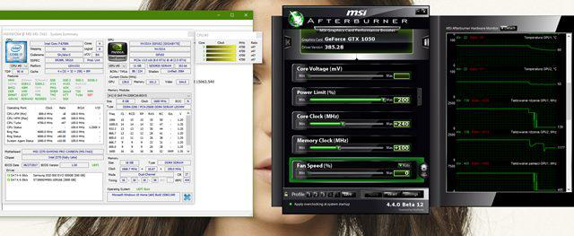 Asus Strix GTX 1050 platforma testowa