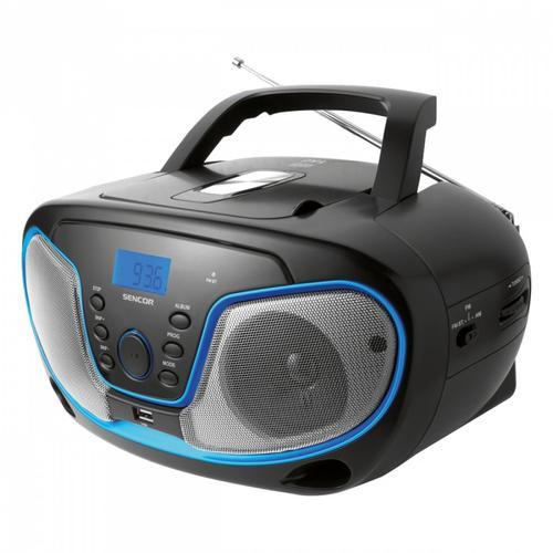 SENCOR Radioodtwarzacz CD SPT 231, CD/CR-R/CDR-W/MP3/USB,wyświetlacz LCD
