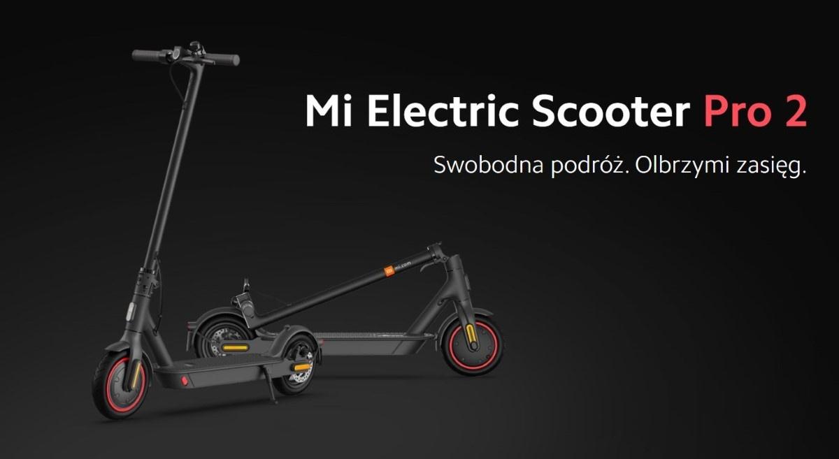 Grafika promująca Xiaomi Mi Electric Scooter Pro 2
