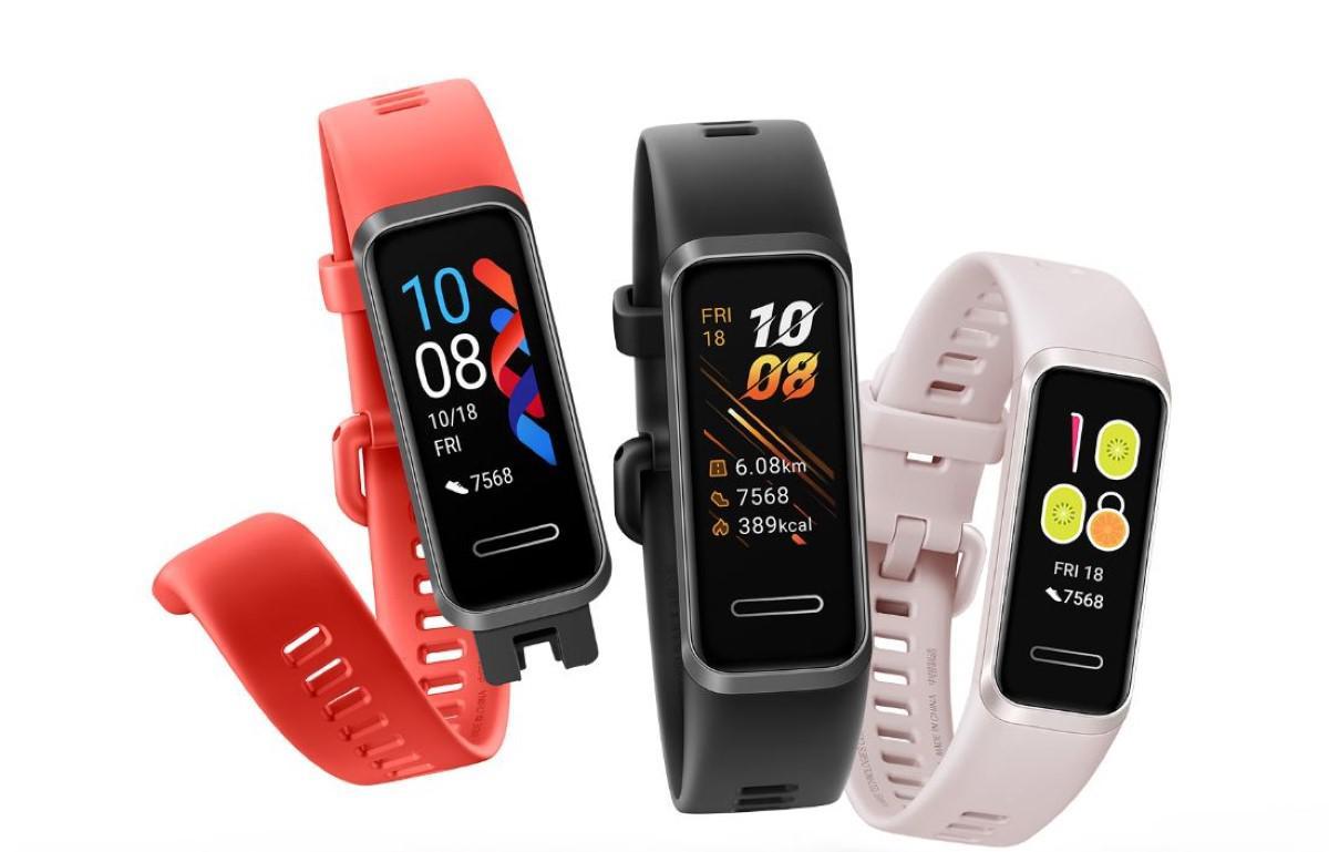 Huawei Band 4 w trzech wersjach kolorystycznych