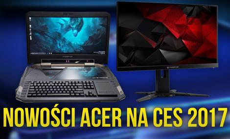 Acer Zaskakuje Innowacyjnym Sprzętem na Targach CES 2017