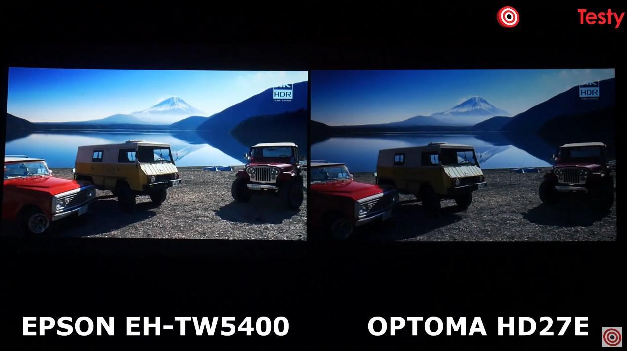 Epson EH-TW5400 vs Optoma HD27e porównanie obrazu film