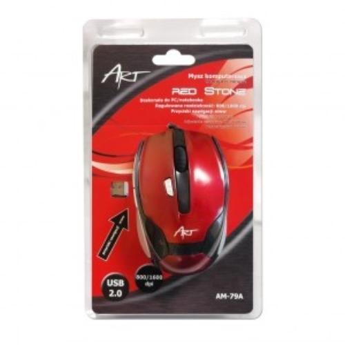 ART Mysz AM-79A Red Stone optyczna USB