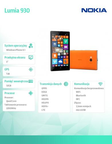 Nokia Lumia 930 Bright Orange Win 8