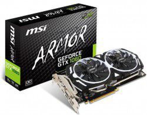 MSI ARMOR NVIDIA GeForce GTX 1060 3072MB GDDR5 192b PCI-E x16 v. 3.0 (1544MHz/8008MHz) OC Edition