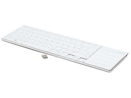 GEMBIRD Klawiatura bezprzewodowa 2.4GHz z Touchpadem PHOENIX Slimline White