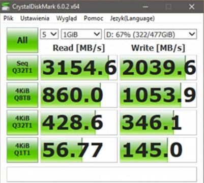 Plextor M9PeY 512 GB - Crystal Disk Mark