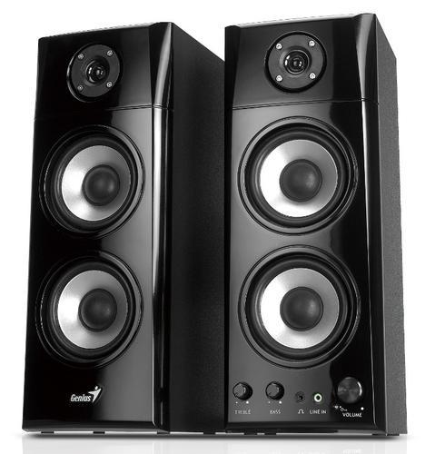 Genius Głośniki 2.0 SP-HF1800A 50W, drewniane, czarne