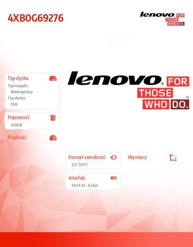 "Lenovo ThinkStation 240GB SATA 2.5"" 6Gbps FDE SSD"
