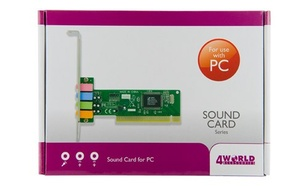4World Karta dźwiękowa PCI 6 kanałów + midi CMI8738