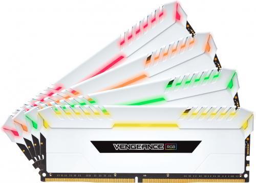 Corsair Vengeance RGB DDR4, 4x8GB, 3200MHz, CL16 (CMR32GX4M4C3200C16W)