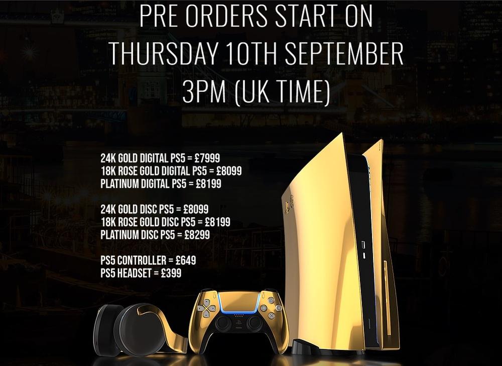 Grafika promująca przedsprzedaż luksusowych PS5