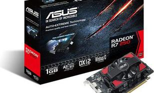 Asus Radeon R7 250 V2 1GB GDDR5 (128 bit) DVI-I, HDMI, DP, BOX (90YV0920-M0NA00)