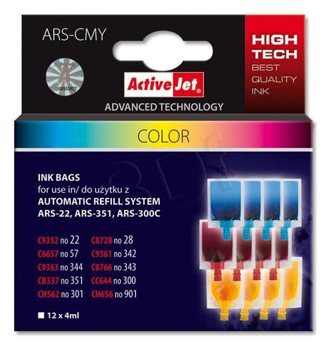 ActiveJet woreczek z trójkolorowy tuszem ARS-CMY 12x4ml