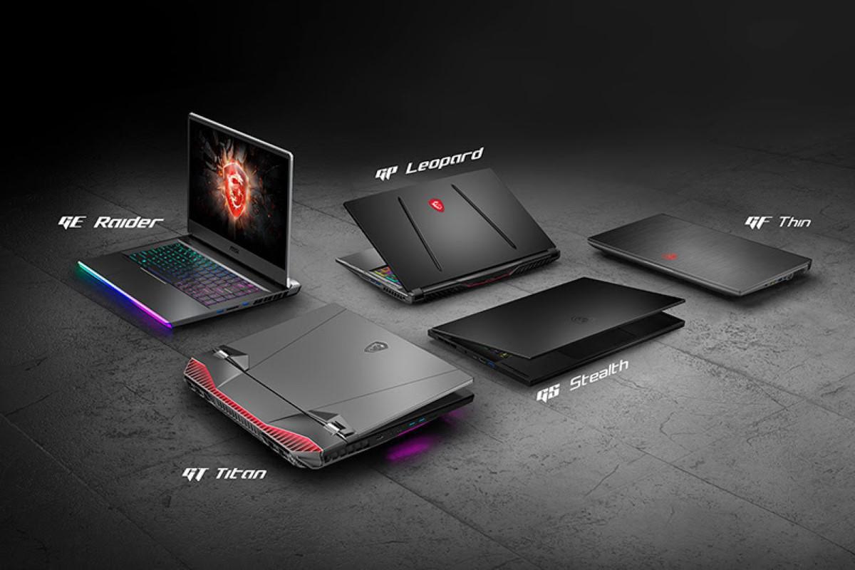 MSI zestaw laptopów na CES 2020