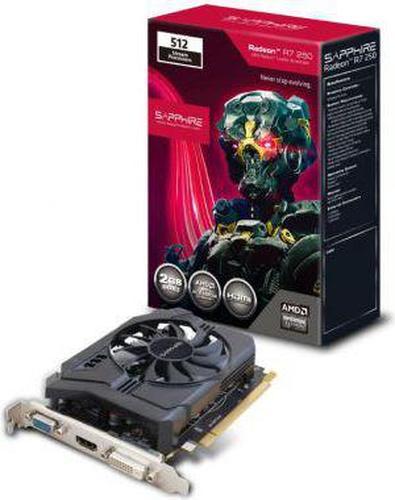 Sapphire Radeon R7 250 2GB DDR3 (128 bit) VGA, DVI, HDMI (11215-21-20G)