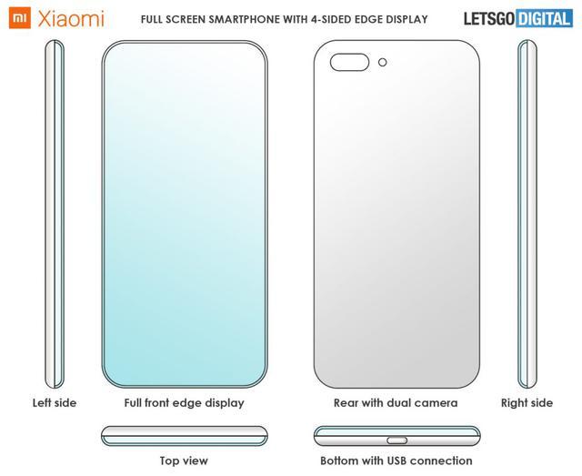 Xiaomi z zagiętym ekranem (fot. letsgodigital)