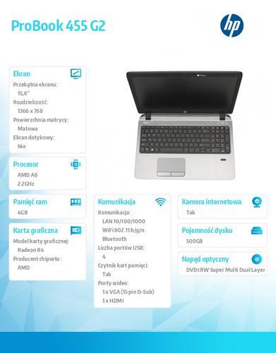 HP 455 G2 A6-7050B W78P 500/4G/DWRW/15,6 G6V98EA