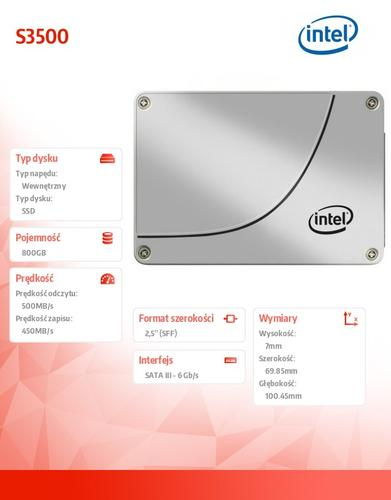 Intel S3500 800GB SATA3 2,5' 500/450 MB/s