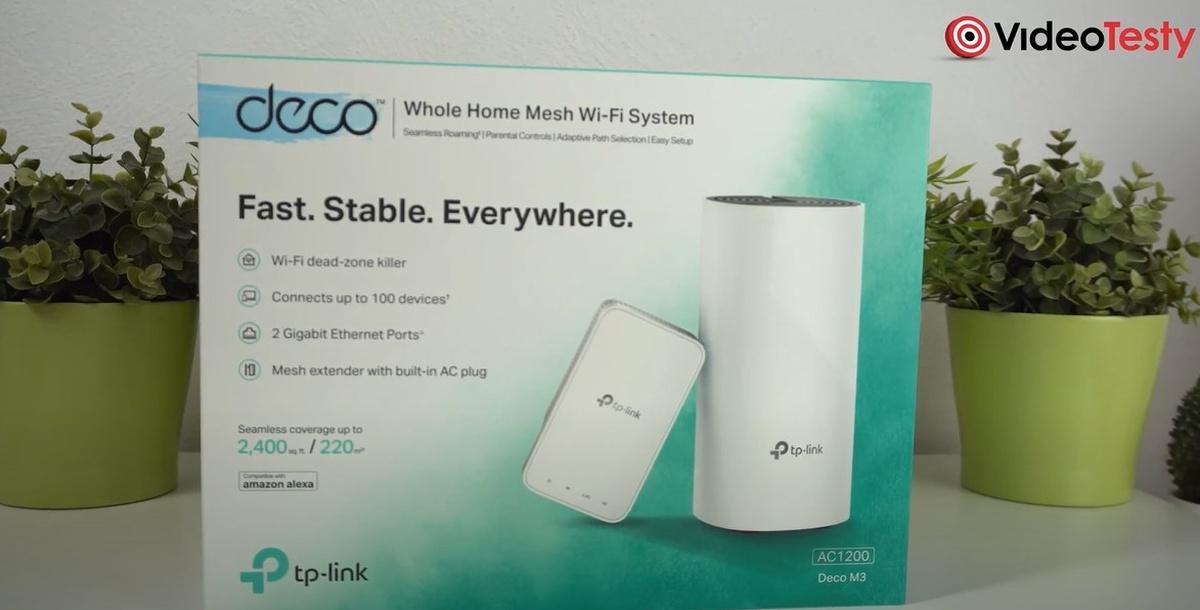 TP-Link Deco M3 w opakowaniu mieści dwa urządzenia - router i wzmacniacz