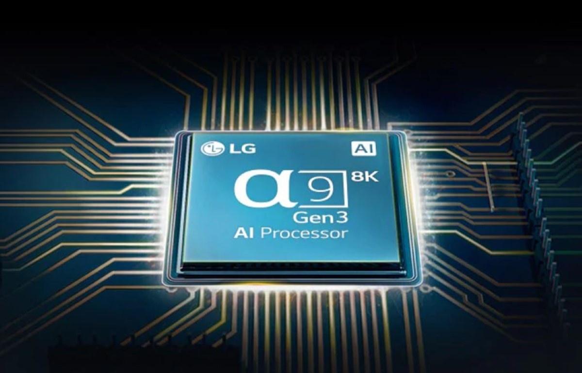 Grafika LG prezentująca procesor 8K