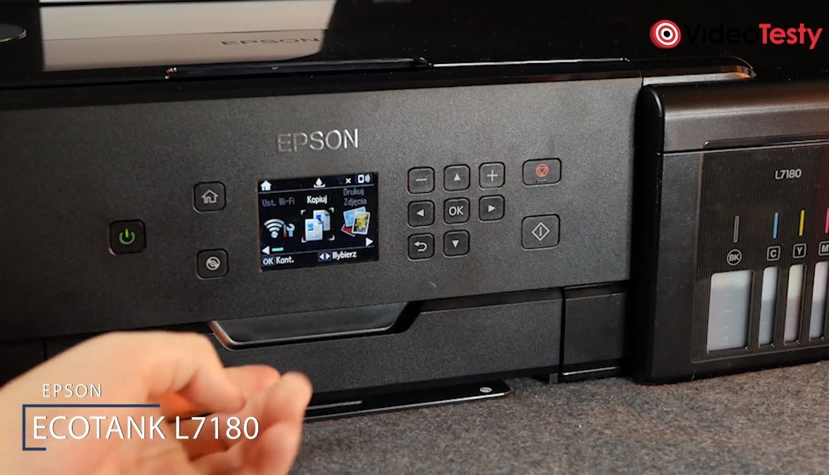 Napis przy drukarce Epson L7180