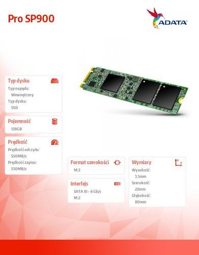 A-Data SSD Premier Pro SP900M.2 2280 128GB SATA3 8cm