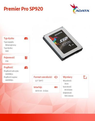 A-Data SSD Premier Pro SP920 1TB SATA3 Marvell