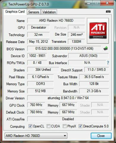 AMD A10 5700 GPU-Z