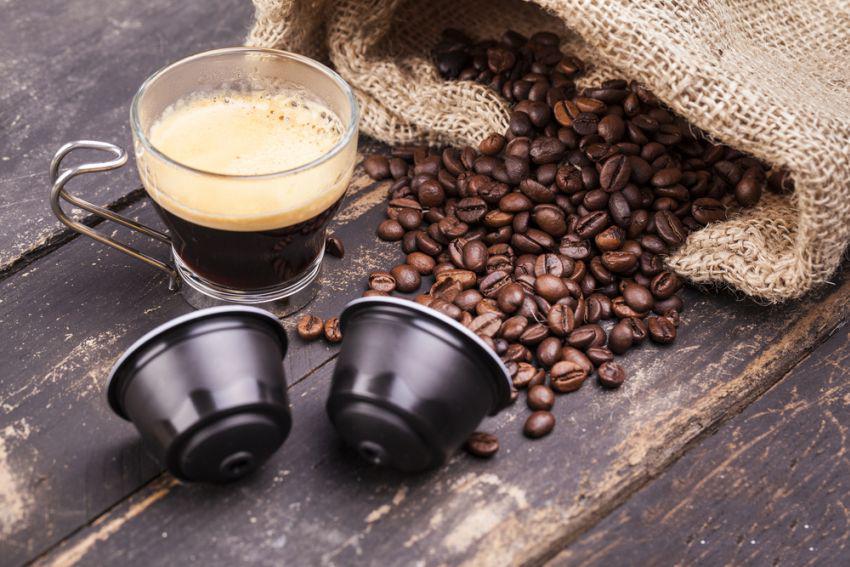 kawa przygotowana z kapsułek