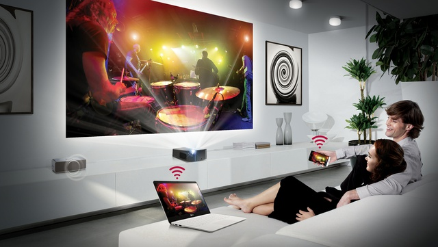 Kolory lamp w projektorach LG Minibeam Nano