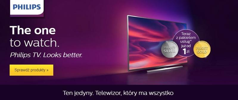 Nowa seria telewizorów Philips sprzedawana z promocyjnymi pakietami