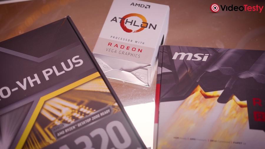 MSI A320M PRO-VH PLUS I ATHLON 200GE + RX460