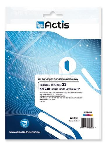 Actis KH-23R tusz trójkolorowy do drukarki HP (zamiennik HP 23 C1823D) Standard