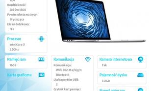 Apple MacBook Pro 15.4/2.5GHz i7/16GB/512GB/GF MGXC2PL