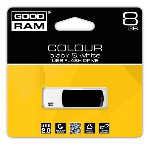 GoodRam Color Mix 8GB USB 2.0 Czarno Biały