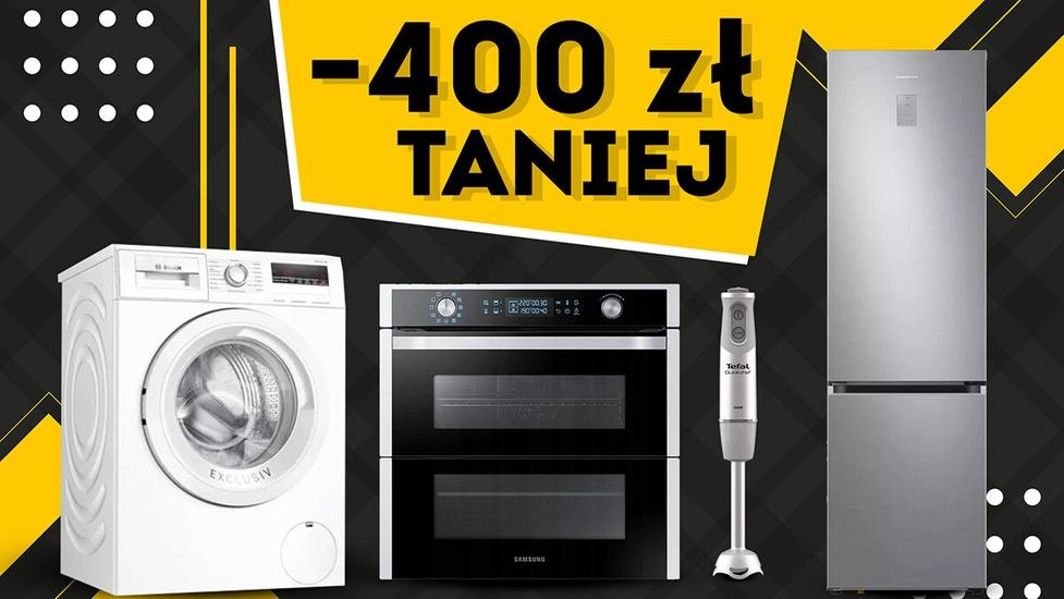 Oszczędzisz do 400 złotych - Faktyczne promocje na AGD!