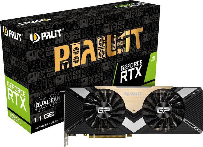 Palit GeForce RTX 2080 Ti DUAL 11GB GDDR6 352bit 3DP/HDMI/USB-c