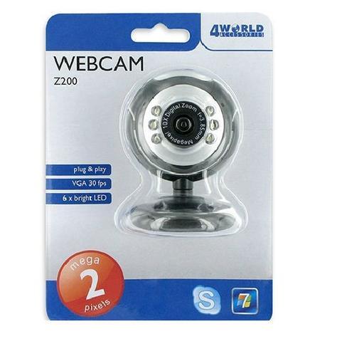 4World Easy WebCam Z200 - USB, 2Mpix z mikrofonem