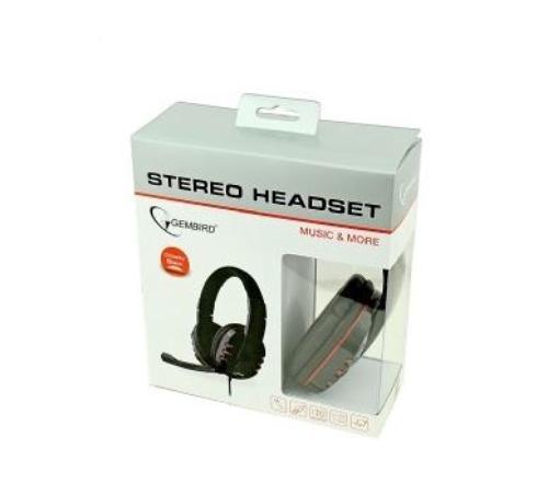 GEMBIRD Słuchawki z mikrofonem MHS-402 Czarne
